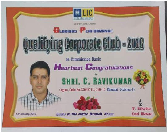 Qualifying for Corp Club 2016